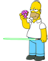 Homer Simpson with a Lightsaber by darthraner83