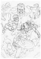 Sketch Commission Avengers by MARCIOABREU7