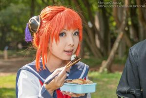 When eating food, don't make crunching noise by Hitomi-Cosplay