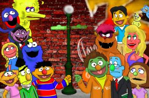 sesame street vs avenue q by Spongebobluvr66