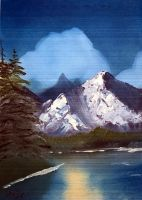 Bob Ross Oil Painting 2 by JayRed182