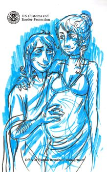 Gladus and Crispin, pregnant by kchuu