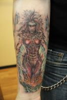 Fantasy Lady Tattoo by seanspoison