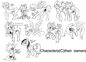 Pony sketch dump. by Polkadot-Creeper