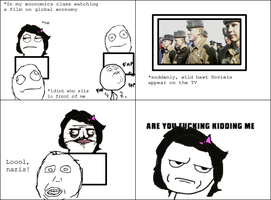 Rage Comic: Economics Class by ToxicKrieg