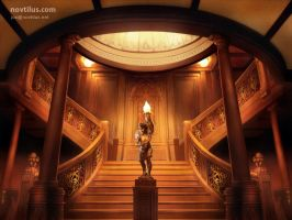 Stair case of Titanic by novtilus