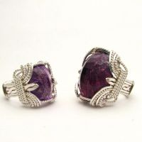 Wire Wrapped Amethyst Stirling Silver Ring by JandSGems