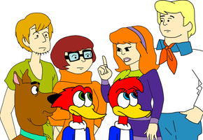 Woody and Winnie with Scooby-Doo and the gang by MarcosPower1996