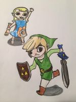Toon Link and his Sis by DisneyGirlForever2