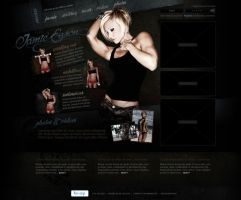 Jamie Eason Website Concept by juannoguerol