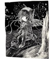 Angel Neko Sweater (Scratch Art) by Ambercatlucky2