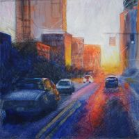 Sunset on Broad by Schlady