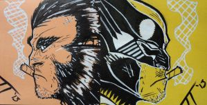 Logan and Wolverine Post-Its by JT09-PapaSmurf