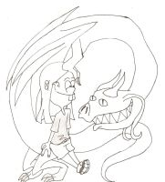 A Kanker and her Dragon by 8ClockworkPurple8