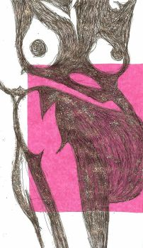 nude in pink by Esther-cant-draw