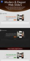 Modern and Elegant Web Sliders Pack by behzadblack