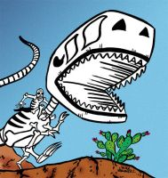 Peek at wraparound cover for DEAD DINOSAURIO by javierhernandez