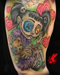 Voodoo Doll Girl Tattoo by Jackie Rabbit by jackierabbit12