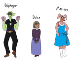 PnB fan characters: Villains' relatives by ChibiEvilCupcake