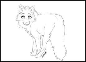 Fox Lineart - FREE USE by Soldjagurl