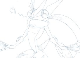 [Sketch] Silly Greninja is Silly! by Wouhlven
