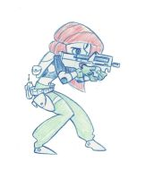 Kim Possible with a FN p90 by Mr-Sheepman