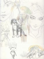 Link and Midna collage xD by HikariMichi