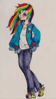 Rainbow Dash by azelmajondrette