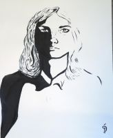 Self portrait in Ink by Cowbutcher
