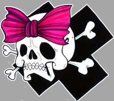 skull wita  bow by rAwkz