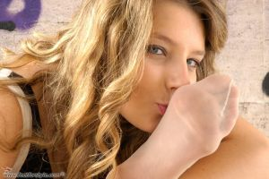 Licking soles babe by feetforstyle