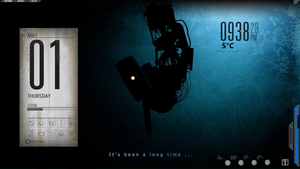 [Portal 2] First Rainmeter! Gald0s! by bobalubis