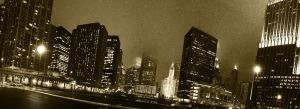 Chicago from the rivers mouth by henkrygg