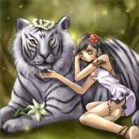 The girl and the Tiger by Cherise07