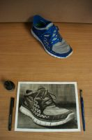 Shoe Ink Painting by Rollingboxes