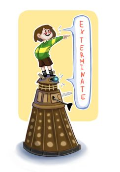 Chara and Dalek (Undertale/Doctor Who crossover) by Yodeki