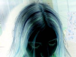my hair in negative by ashlee7307
