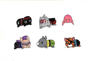 TMNT Tsum-Tsums Set 2 by KessieLou