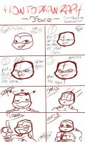 how to draw Raph ~ face! by rassbedashtmnt