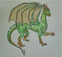 Dragon of Earth- colored by SageFillyLuna