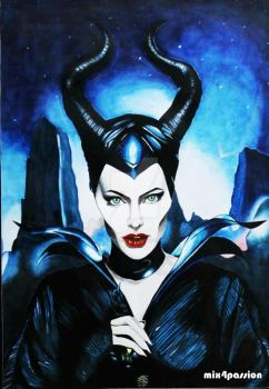 Mix Media (Maleficent) by mix4passion