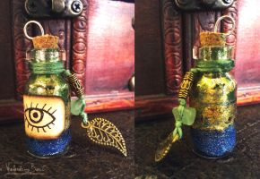 Second sight potion vial charm by NimphradorasOddities