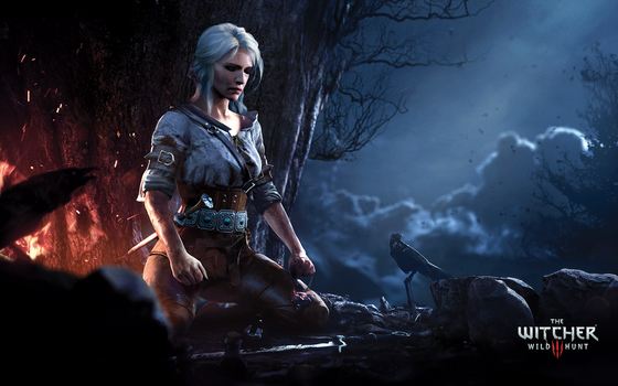Ciri Meditating - The Witcher 3: Wild Hunt by WojtekFus