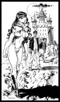Vampirella and Dylan Dog by Aldagon
