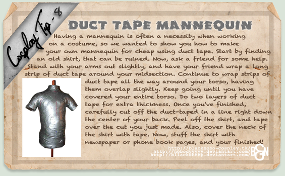 Cosplay Tip 8: Duct Tape Mannequin by Bllacksheep