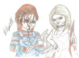 Chucky and tiffany by Laquyn