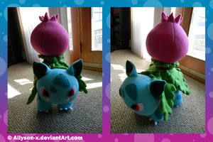 Ivysaur Plush by Allyson-x