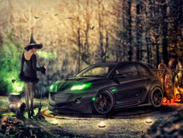 2013 Opel Adam Halloween style by xGrabx