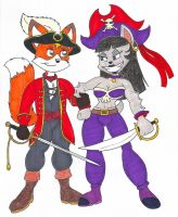 Pirate Captain and First (and Only) Mate by fox-mccloud