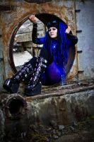 Blue cybergoth by mysteria-violent